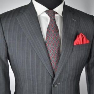 *Recent* VERSACE Collection Gray Modern 2Btn Suit